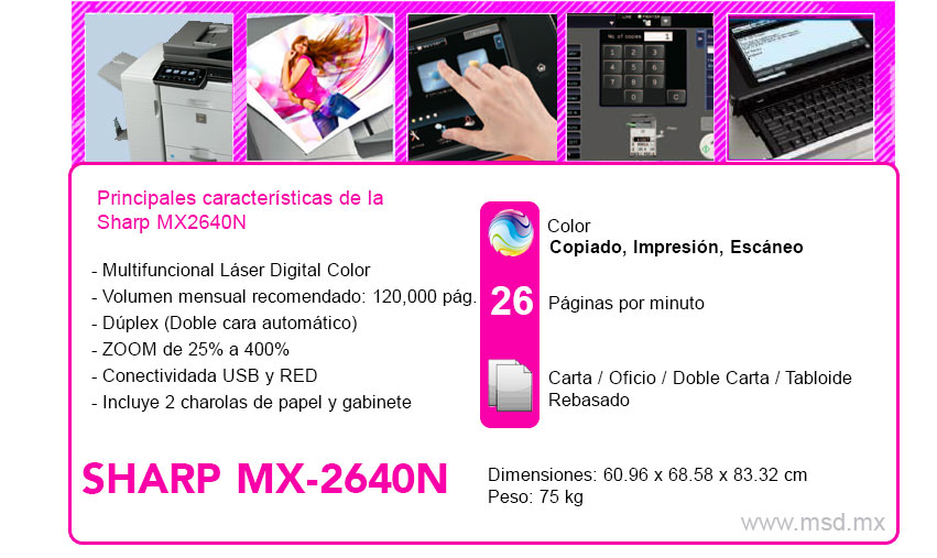Caracteristicas-Sharp-MX2640N