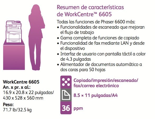 Xerox-Workcentre-6605-especificaciones